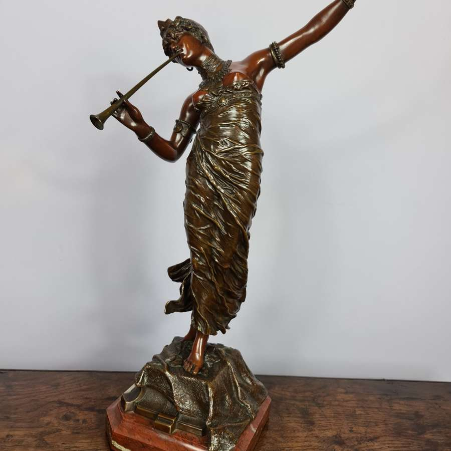 Beautiful Franz Rosse Art Nouveau Patinated Bronze