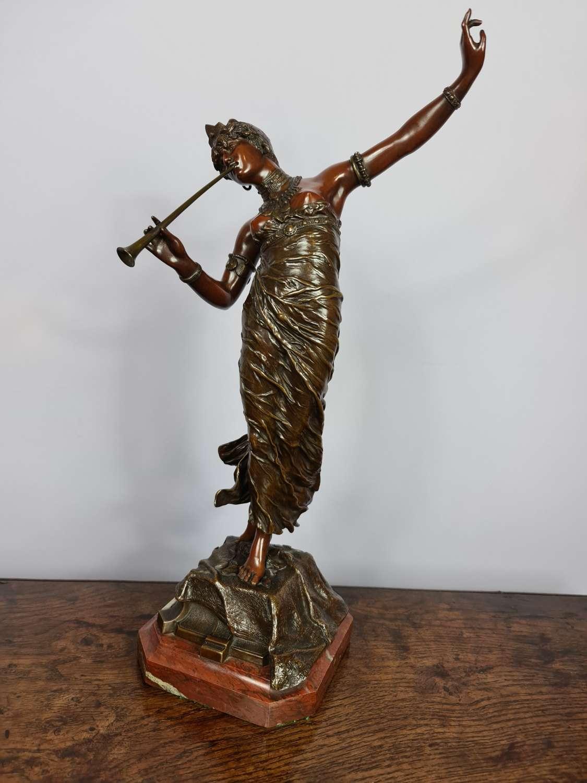 Beautiful Franz Rosse Art Nouveau Patinated Bronze