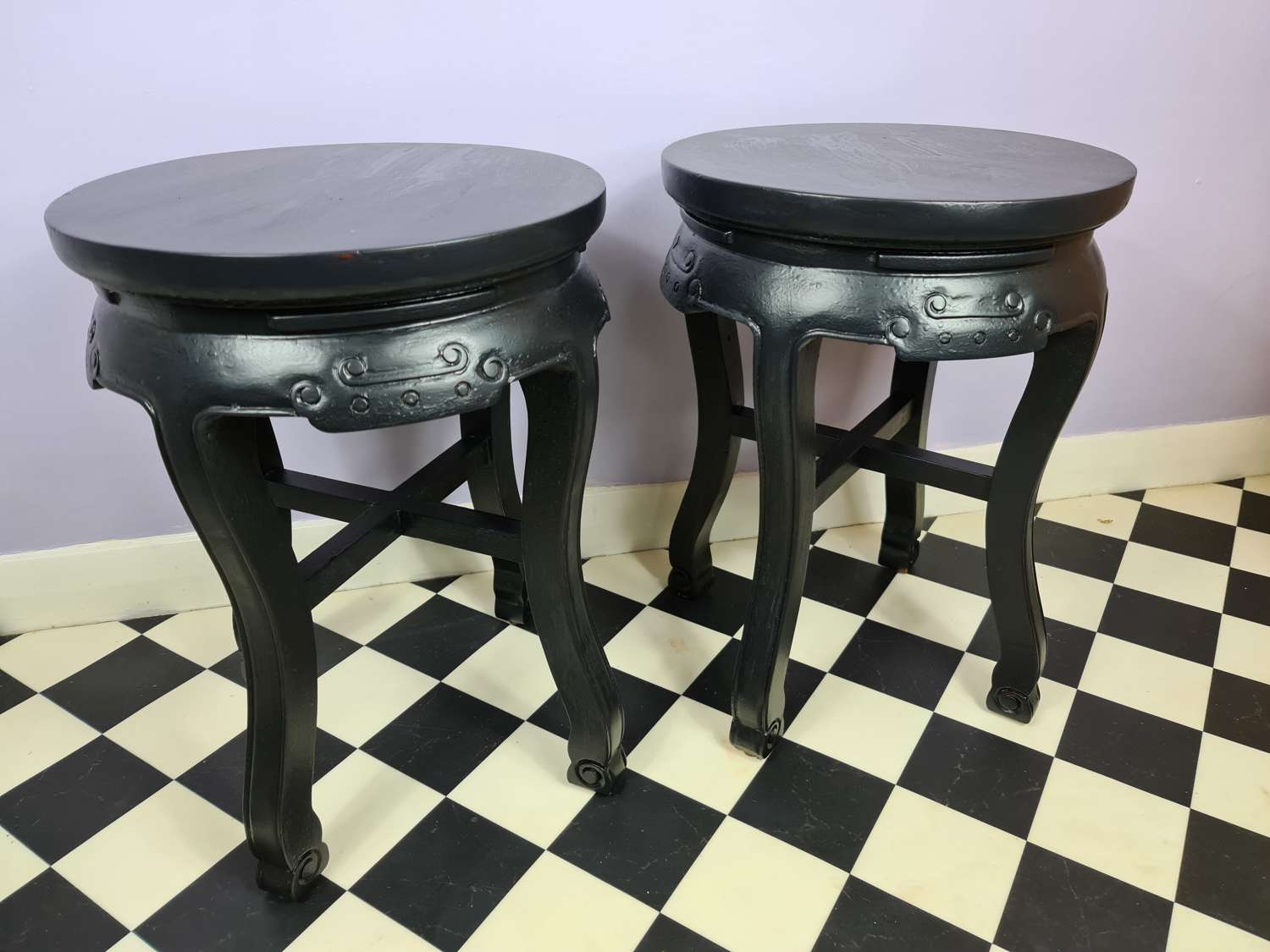 A Pair of 20th Century Chinese Jardiniere or Vase Stands
