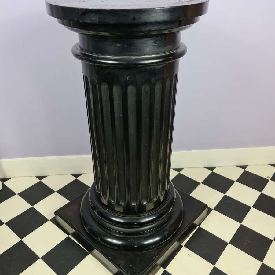 Handsome 19th Century Ebonised Pedestal