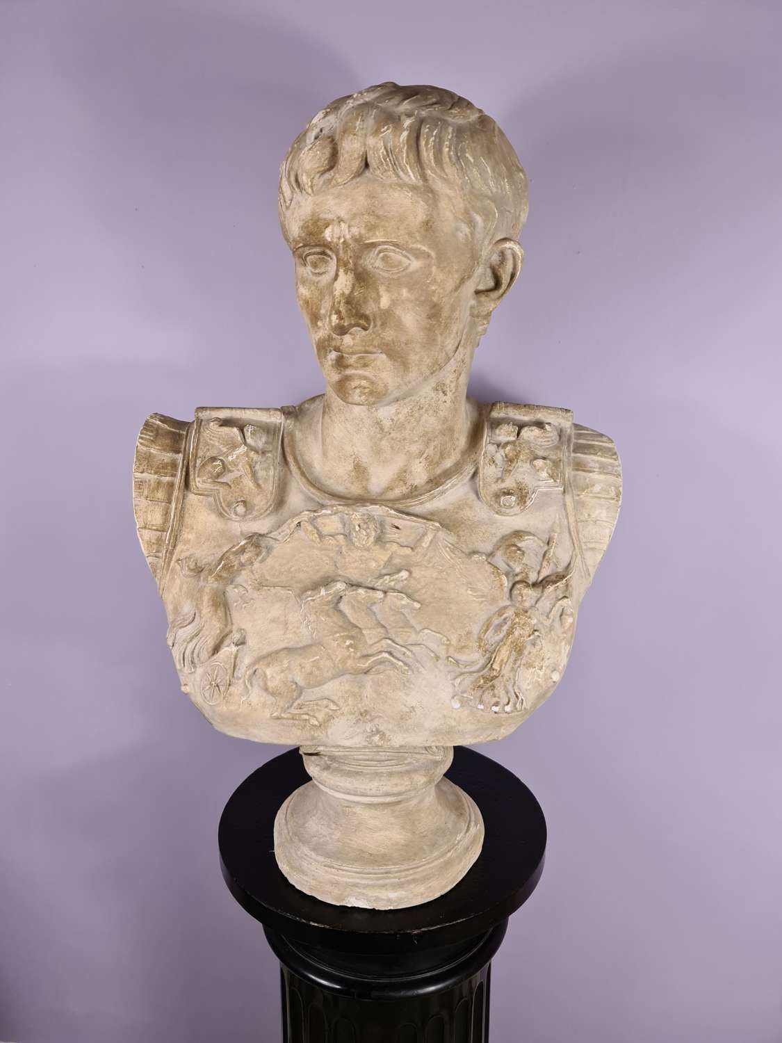 Large Plaster Bust of Augustus
