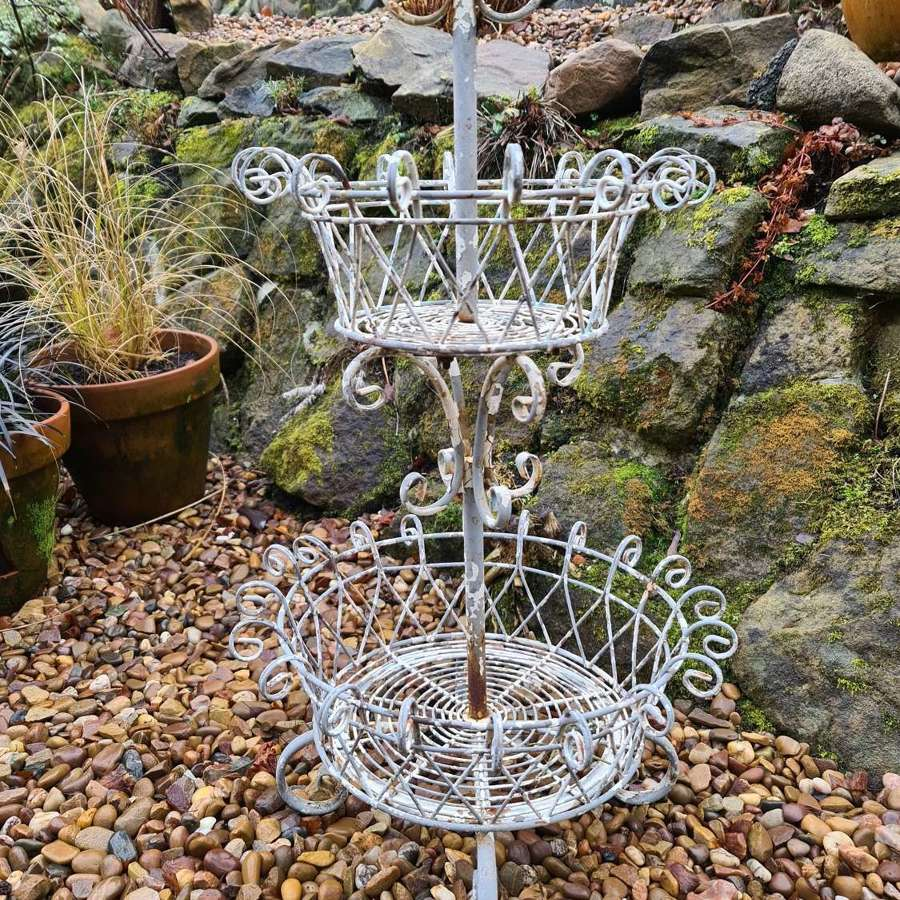 French Two Tier Wire Garden flower Basket