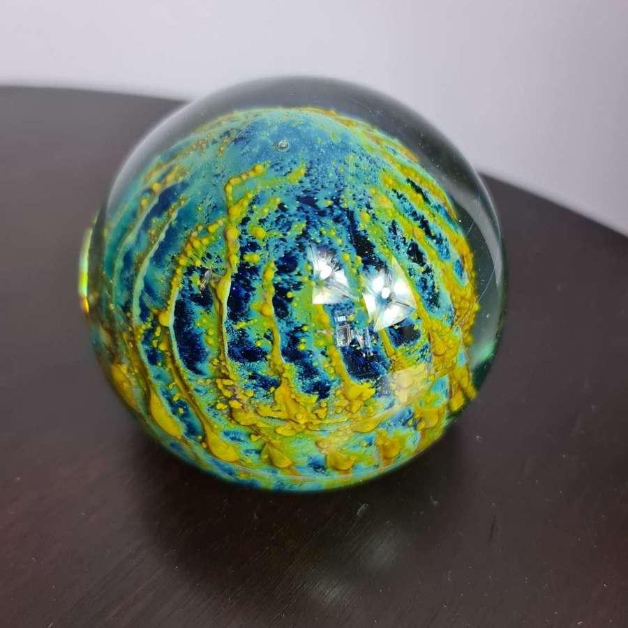Mdina Glass 'Sea Urchin' Paperweight