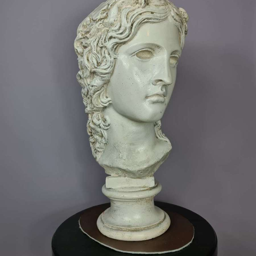 19th Century Glazed Plaster Bust