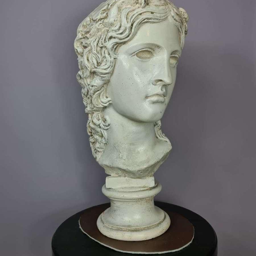 19th Century Glazed Plaster Bust