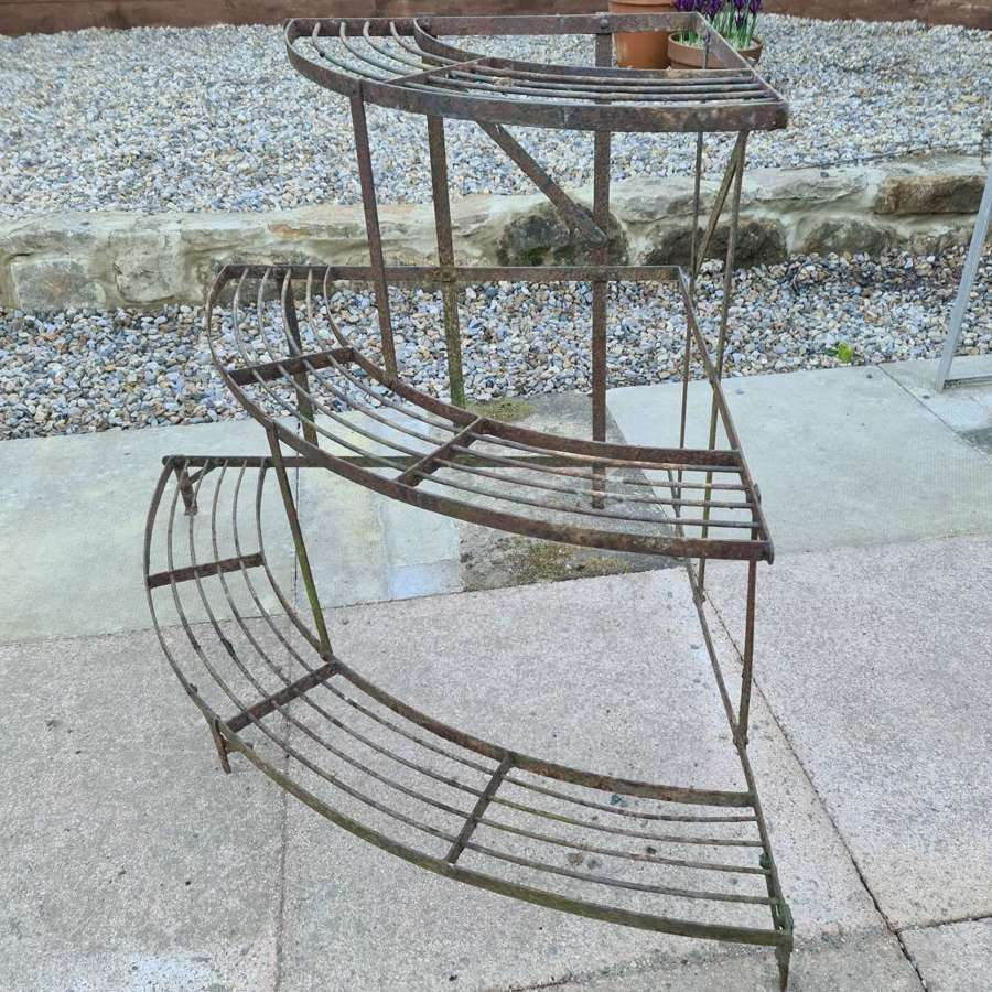 French Corner Bow fronted 3 Tier Plantstand