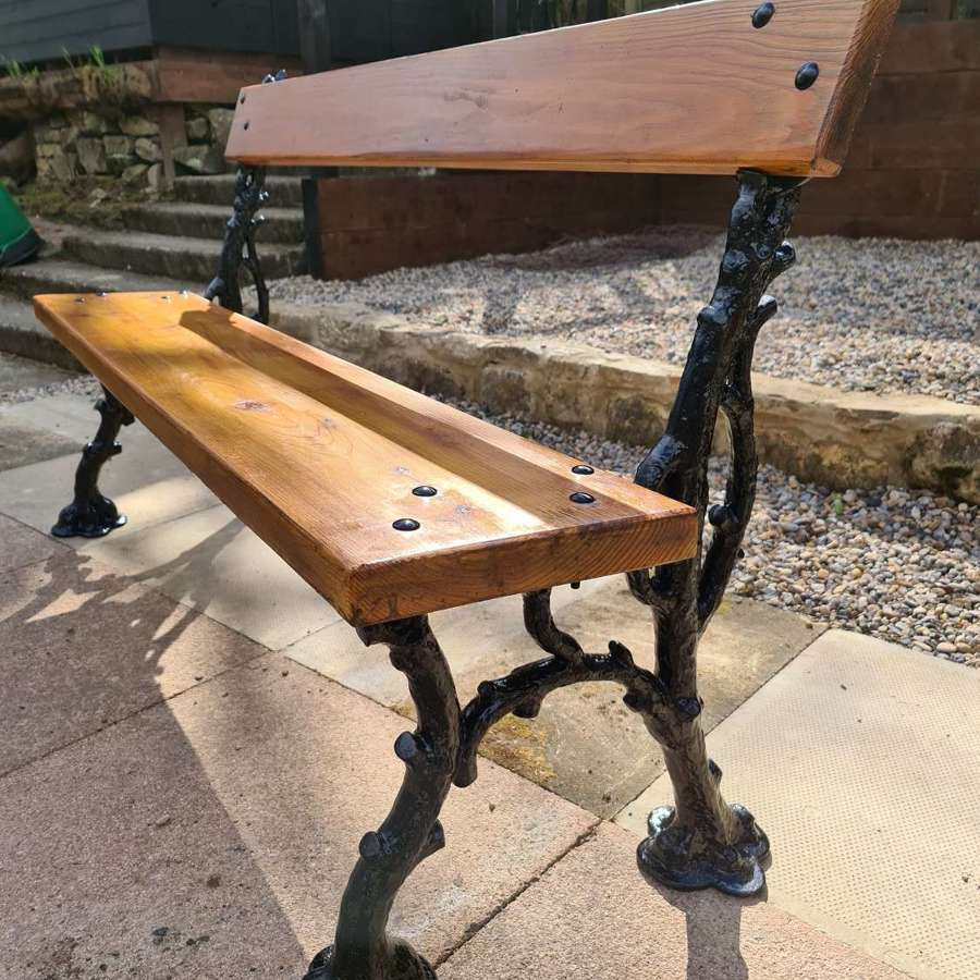 Substantial 19th Century Coalbrookdale Garden Bench