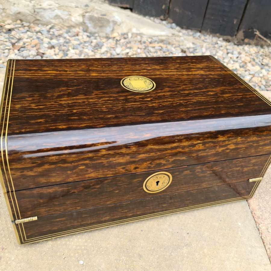 Exceptional Quality Rare Victorian Coromandel Writing Slope