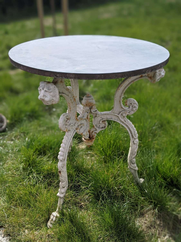 Rare 19th Century Cast Iron Garden Table