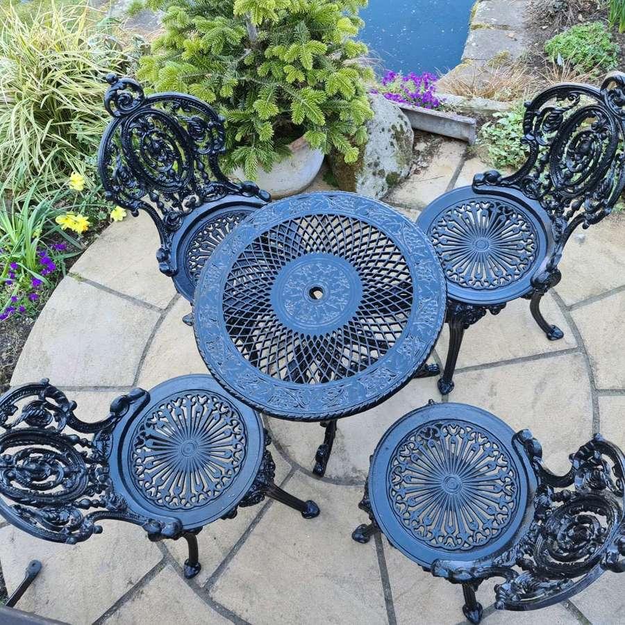 Victorian Cast Iron Garden Set