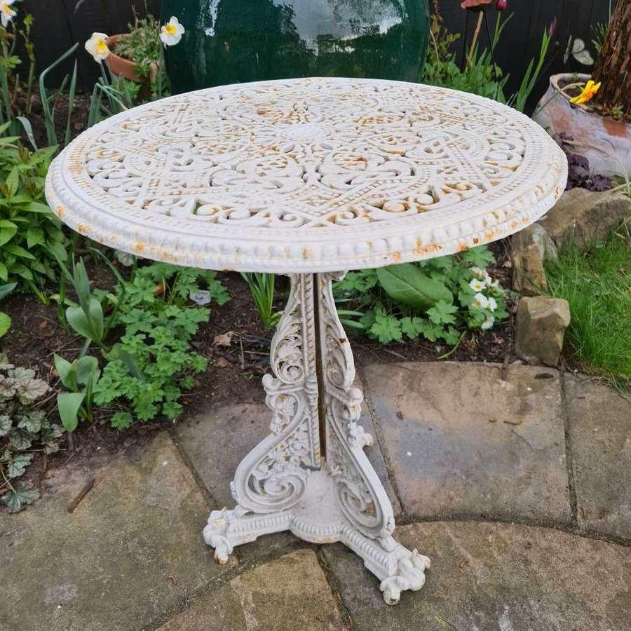 Rare Cast Iron Table - Coalbrookdale Christopher Dresser Pattern