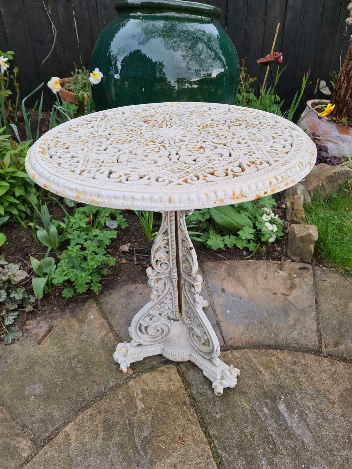 Rare Cast Iron Table - Coalbrookdale Christopher Dresser Pattern