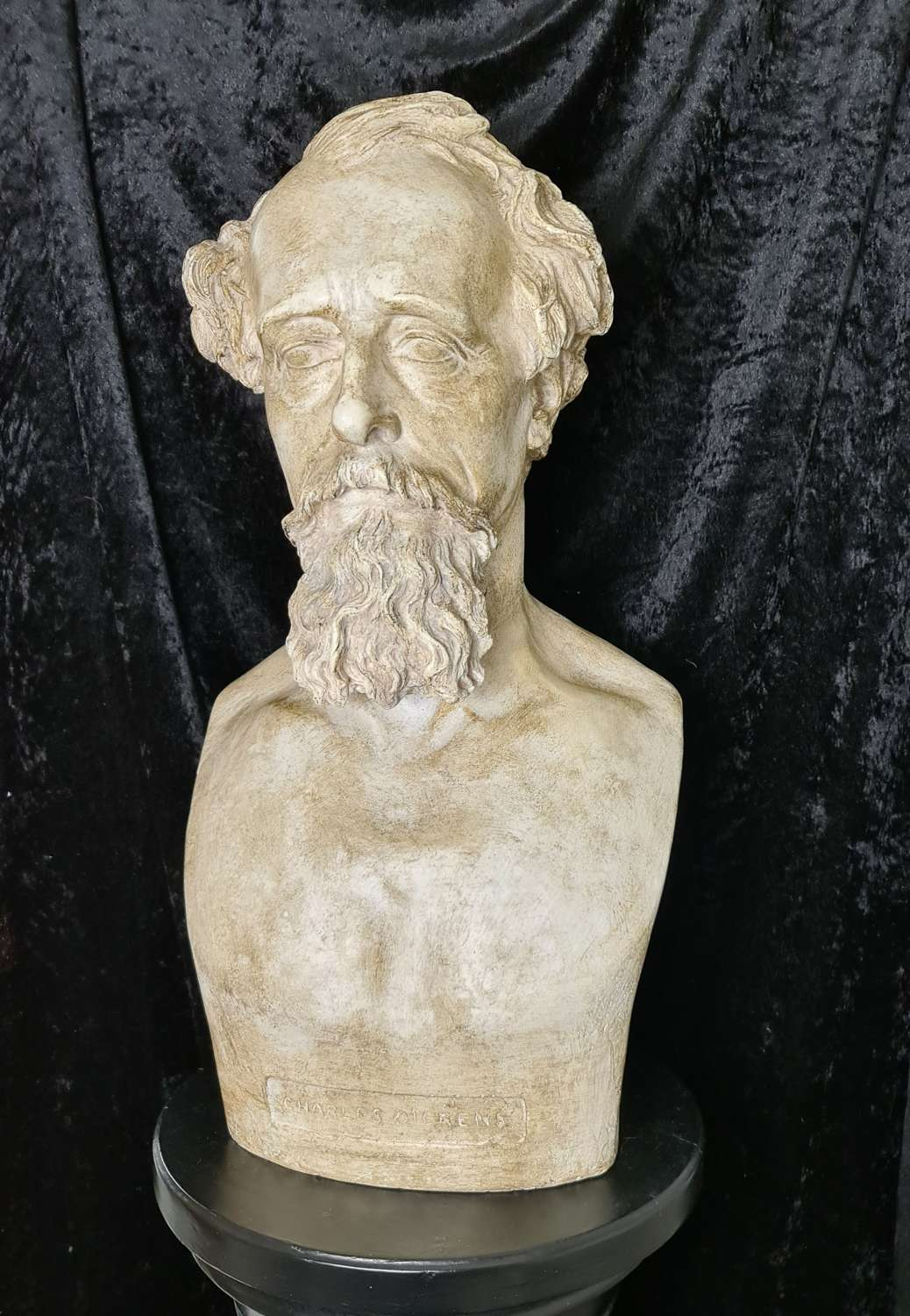Handsome Bust of Writer Charles Dickens