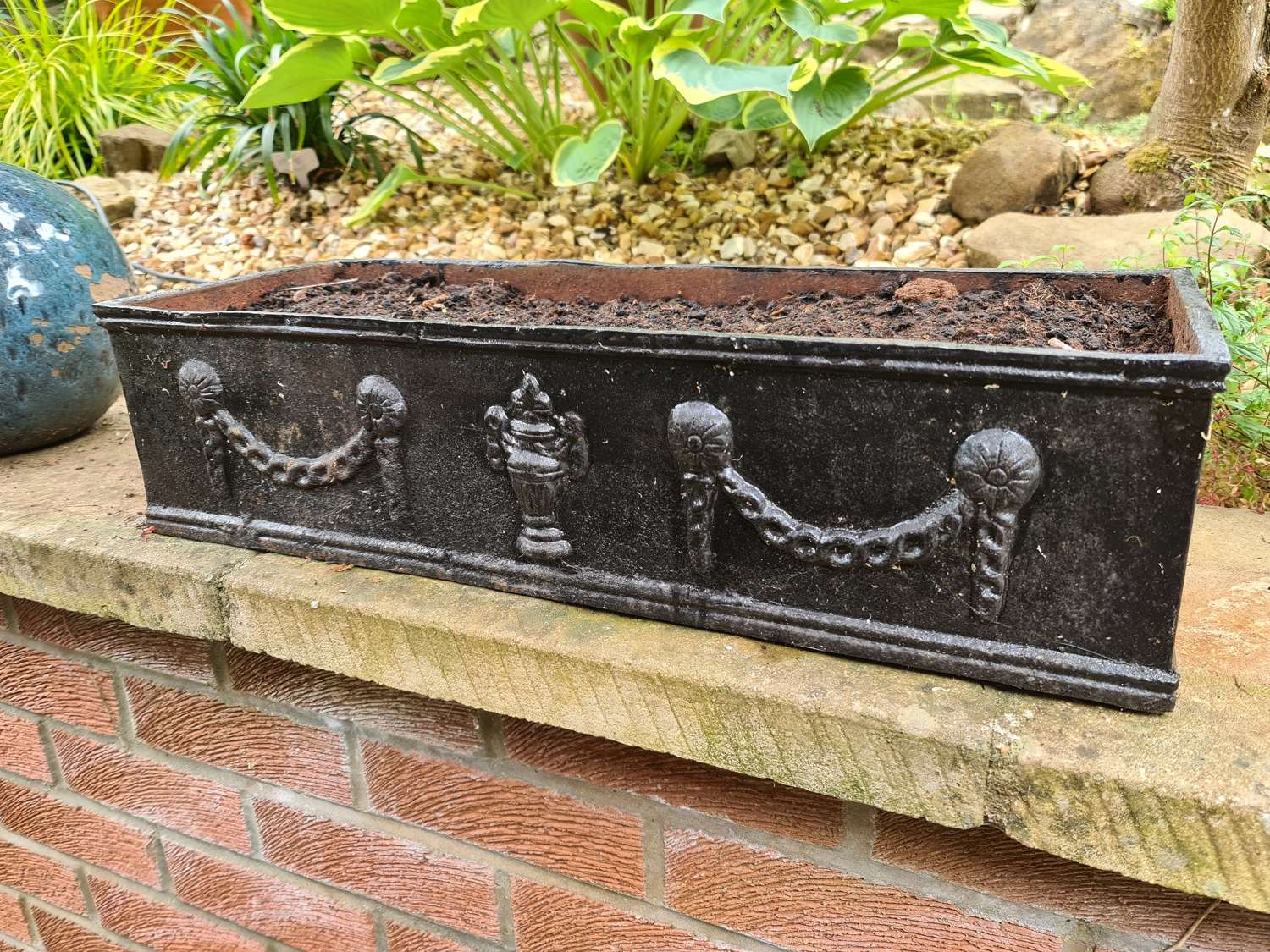 Heavy Cast-iron Planters in the French style