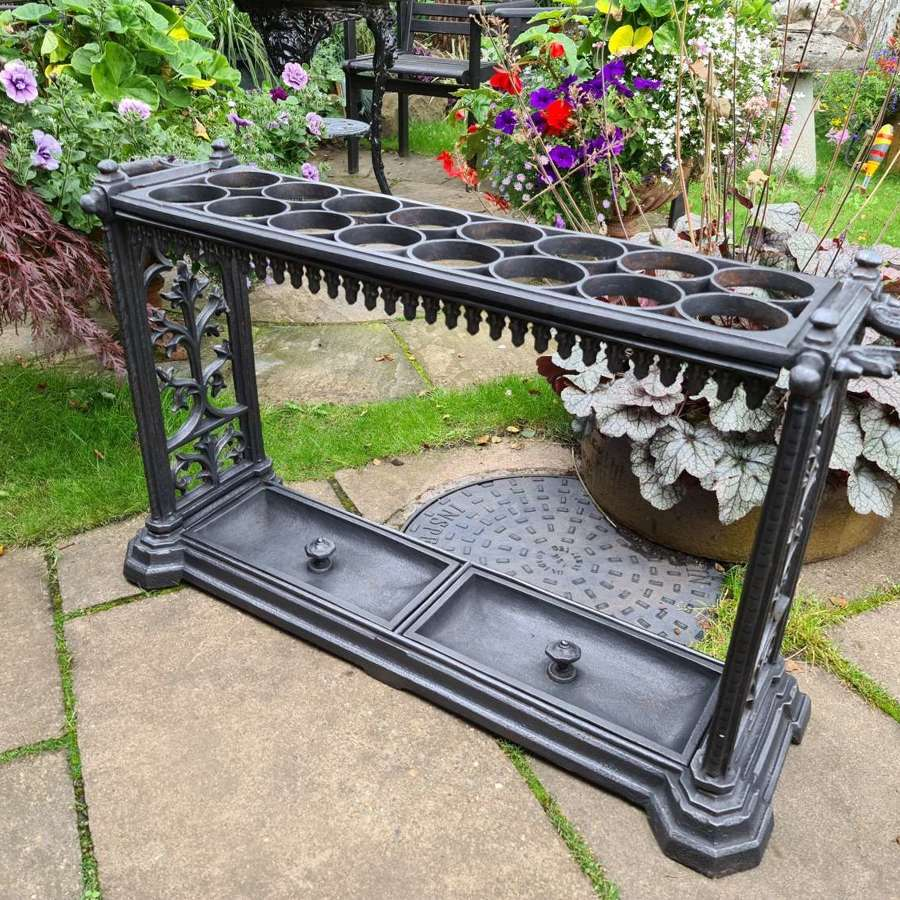 Rare 19th Century Stick Stand in Gothic style