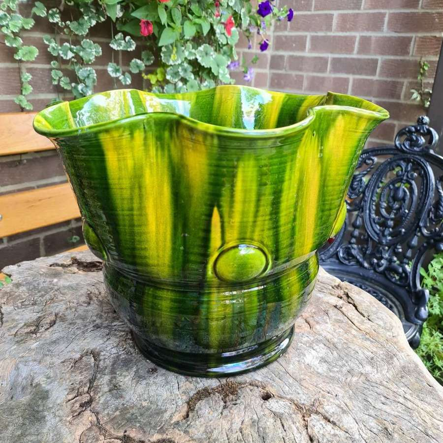 Large Unusual Majolica Jardiniere/Vase