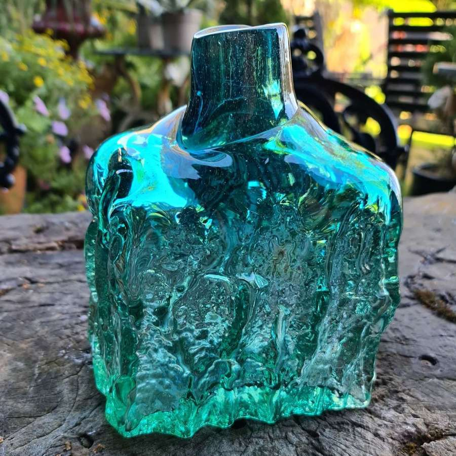 Mdina Textured Bark Bottle c1970/71